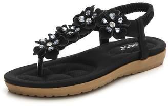 fc78e99855b at Amazon Canada · SaiMeiTu Womens Flat Sandals Summer Rhinestone Bohemian  Flip Flop Shoes