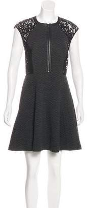 Rebecca Taylor Lace-Trimmed Mini Dress