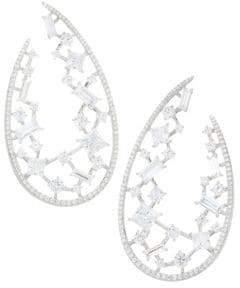 Adriana Orsini Azure Wrap Hoop Earrings - Silver