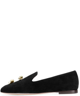 Stuart Weitzman Node Smoking Slipper