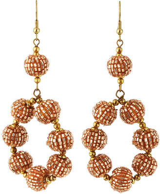 Panacea Beaded Ball Hoop Earrings