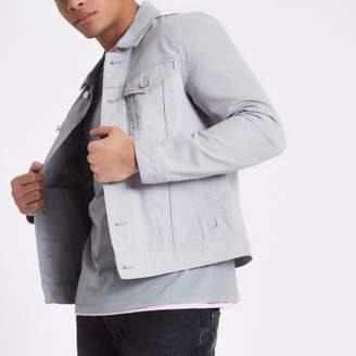 River Island Mens Light grey denim jacket