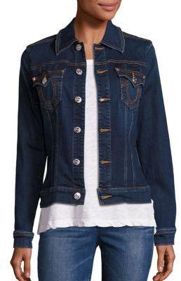 True Religion Western Trucker Denim Jacket $199 thestylecure.com