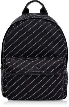 Karl Lagerfeld K/Stripe Logo Nylon Backpack