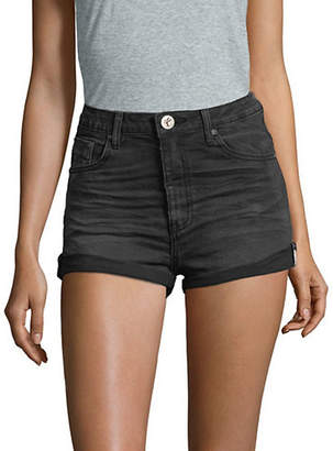 One Teaspoon High-Waisted Stretch Denim Shorts