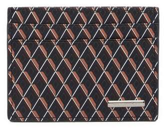 Ermenegildo Zegna Printed Leather Card Case