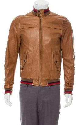 Band Of Outsiders Herrington Leather Jacket