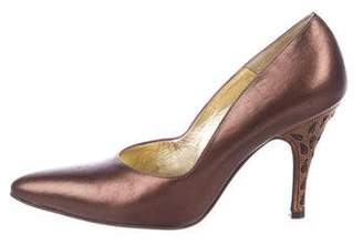 Bruno Magli Metallic Leather Pumps