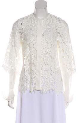 Alexis Lace Button-Up Blouse