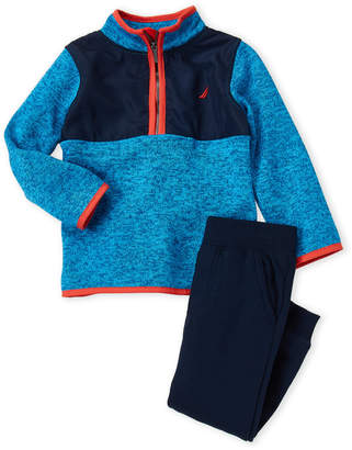 Nautica Toddler Boys) Two-Piece Zip Sweater & Joggers Set