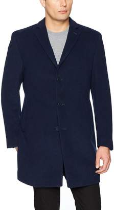 Calvin Klein Men's Slim Fit Wool Blend Overcoat Jacket, Regular