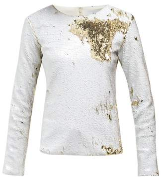 Racil - Judy Sequin Embellished Tulle Top - Womens - White Gold
