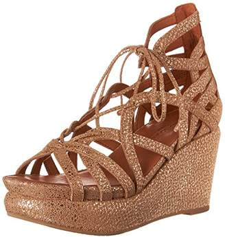 Gentle Souls by Kenneth Cole Women's JOY WEDGE SANDAL WITH GHILLIE DETAIL Sandal