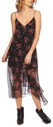 1 STATE 1.State Wildflower Ruffle Slip Dress