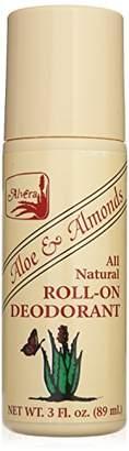 Alöe Alvera All Natural Roll-on Deodorant and Almonds - 3 Oz