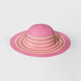 Cat & Jack Girls' Pom Floppy Hat Natural One Size