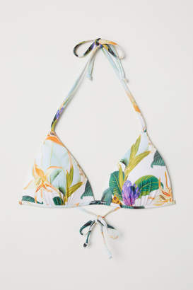 H&M Padded Triangle Bikini Top - White