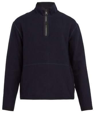 Ami Zip Up Fleece Sweatshirt - Mens - Navy