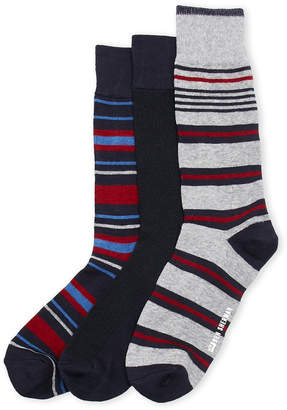 Ben Sherman 3-Pack Striped Crew Socks