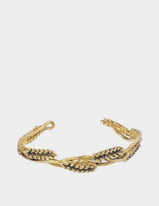 Aurelie Bidermann Wheat Mutli Cobs Bracelet in 18K Gold-Plated Brass