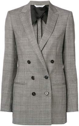 Tonello double-breasted plaid blazer