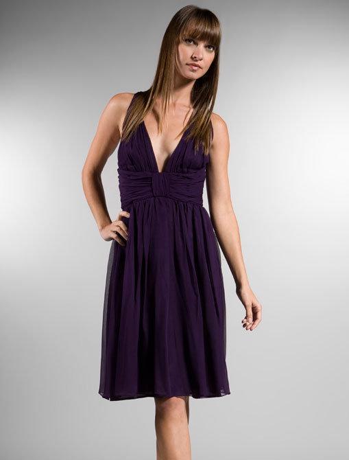 Foley + Corinna Backless Dress in Purple