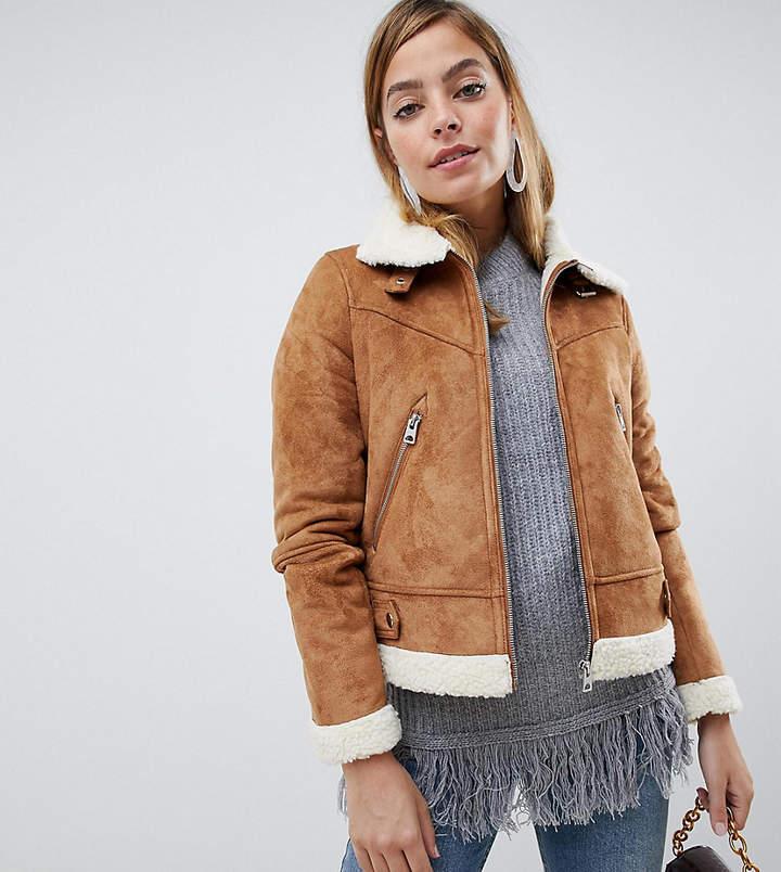 Petite Shearling Borg Jacket