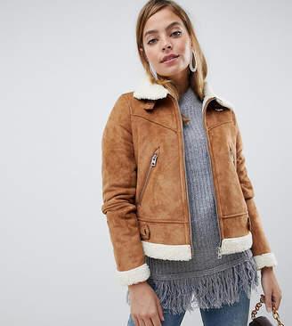 Vero Moda Petite Shearling Borg Jacket