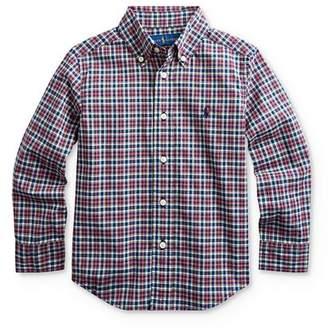 Ralph Lauren Boys' Plaid Button-Down Shirt - Little Kid