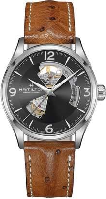 Hamilton Jazzmaster Auto Leather Watch