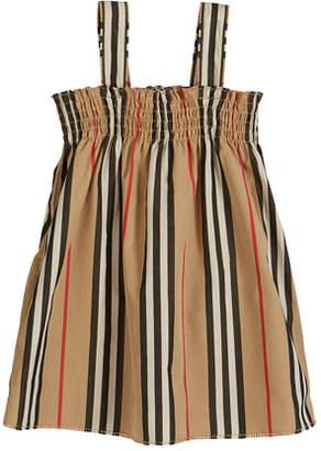 Burberry Junia Icon Stripe Smocked Sun Dress, Size 6M-2