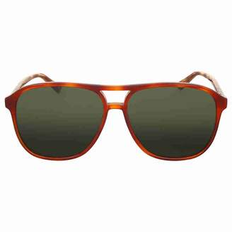 Gucci Men's Polarized GG0016S-005-58 Tortoiseshell Aviator Sunglasses