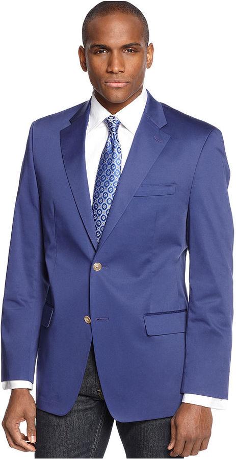 Sean John Jacket, Solid Cotton Blazer