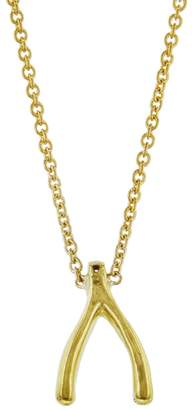 Jennifer Meyer Mini Wishbone Necklace - Yellow Gold
