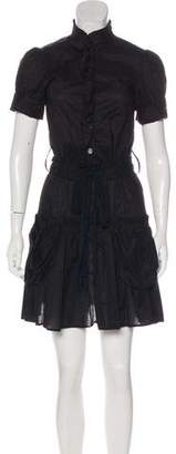 Marc by Marc Jacobs Ruffle-Trimmed Mini Dress