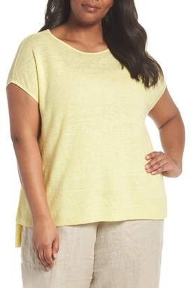 Eileen Fisher Organic Linen Poncho (Plus Size)