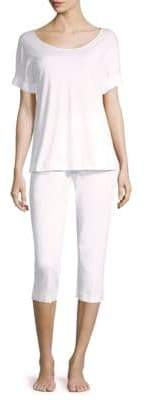 Hanro Willow Short-Sleeve Cotton Pajamas