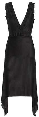 Givenchy Pleated satin dress