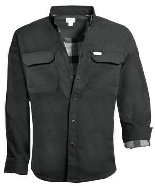 Smith's Workwear Men's Flannel-Lined Full-Swing Stretch Work Shirt