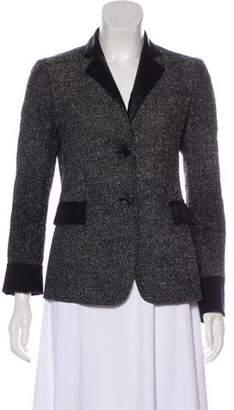 Akris Punto Faux Leather-Trimmed Button-Up Blazer