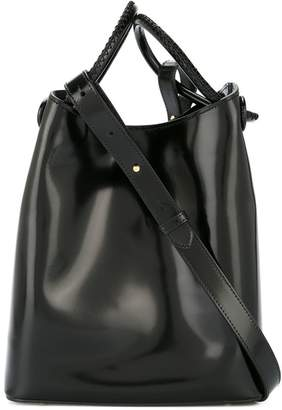 Vosges Elleme small patent leather tote bag
