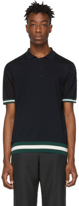 Moncler Navy Colored Trim Polo