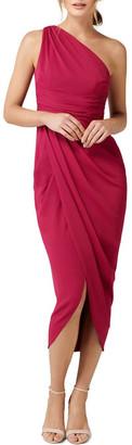 Forever New Mandy One Shoulder Drape Maxi Dress