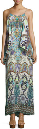Camilla Embellished Layered Maxi Dress, Casablanca $650 thestylecure.com