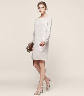 Reiss Kayla Knitted Sequin Dress
