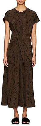 ROUCHA Women's Abstract-Print Crepe Dress - Brown