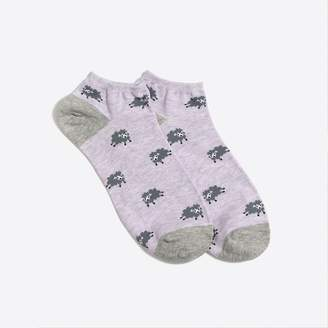 J.Crew Factory Fluffy sheep ankle socks