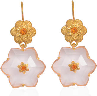 Emma Chapman Jewels - Lalitha Rose Quartz Earrings