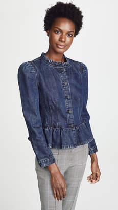 Rebecca Taylor Denim Puff Sleeve Jacket