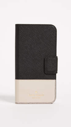 Kate Spade Leather Wrap Folio iPhone X / XS Case